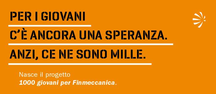 1000 giovani per Finmeccanica